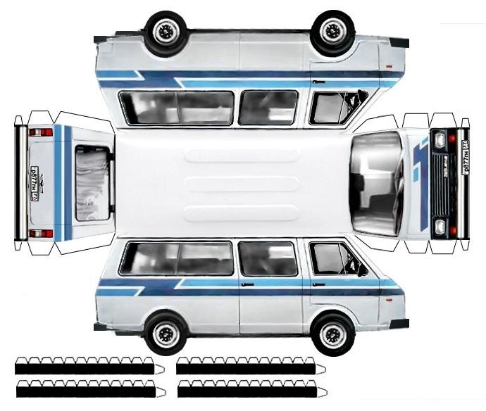 Бумажная модель автомобиля раф 22038