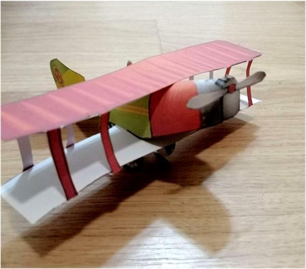 Бумажный самолет, шаблон