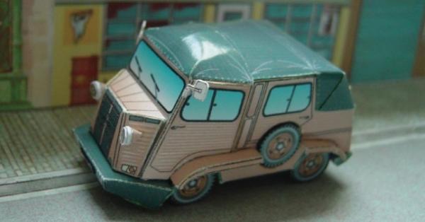 Бумажный автомобиль