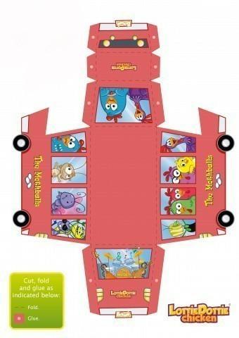 Бумажные игрушки - автобус