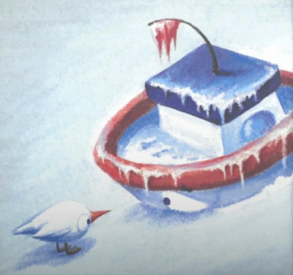 Катерок отправляется в арктику, сказка
