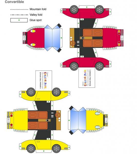 Бумажная модель автомобиля
