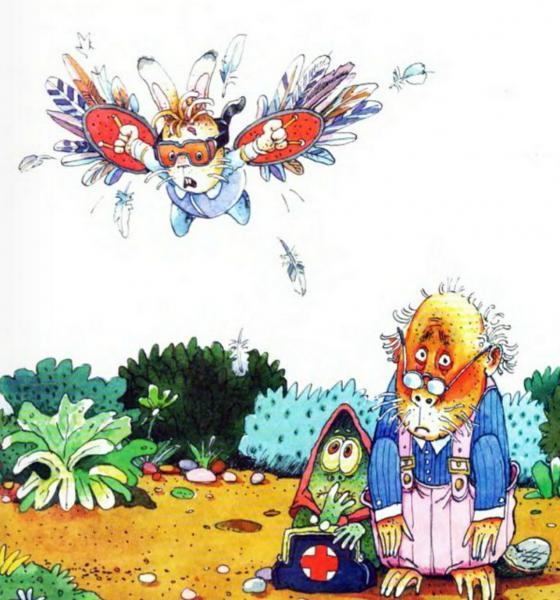 Сказка про зайца, который хочет летать