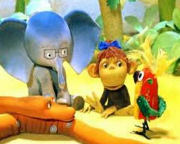 Сказка Григория Остера про слона, мартышку, попугая