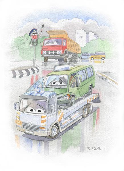 Сказка про машину газель
