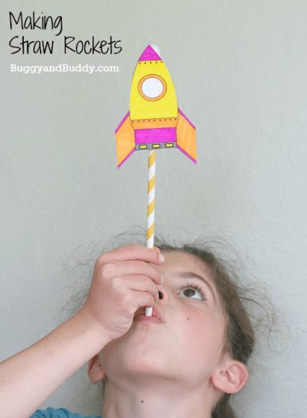Ракета поделка для детей