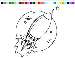 Разукрасить ракету